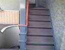 階段防滑性シート工事後